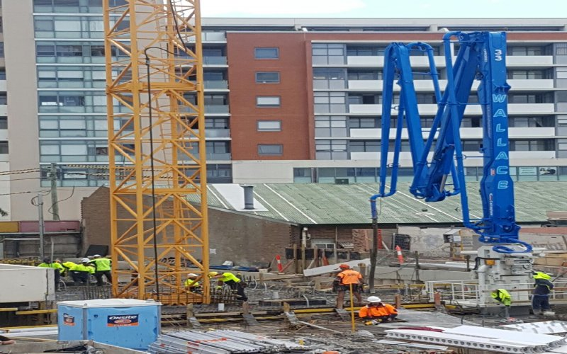 - 33m Tower Boom - Wallace Concrete Pumping Contractor Services Sydney