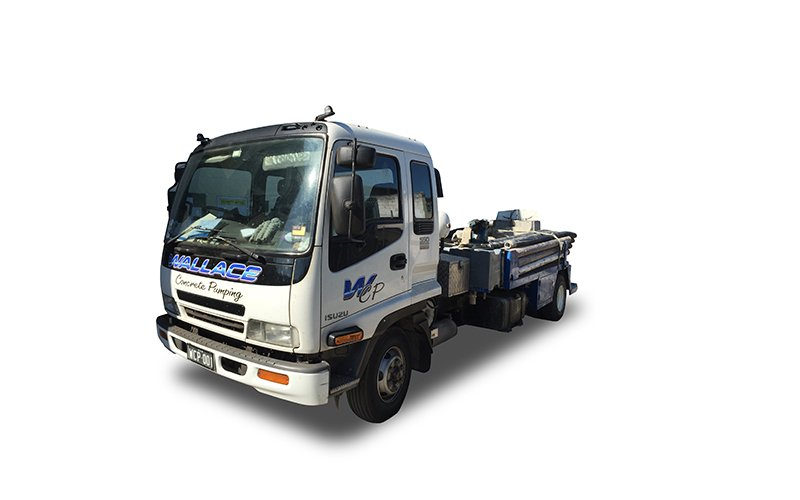 WCP001 - Isuzu NKR 550 Pump Truck - Wallace Concrete Pumping Services Contractor Company - Sydney NSW