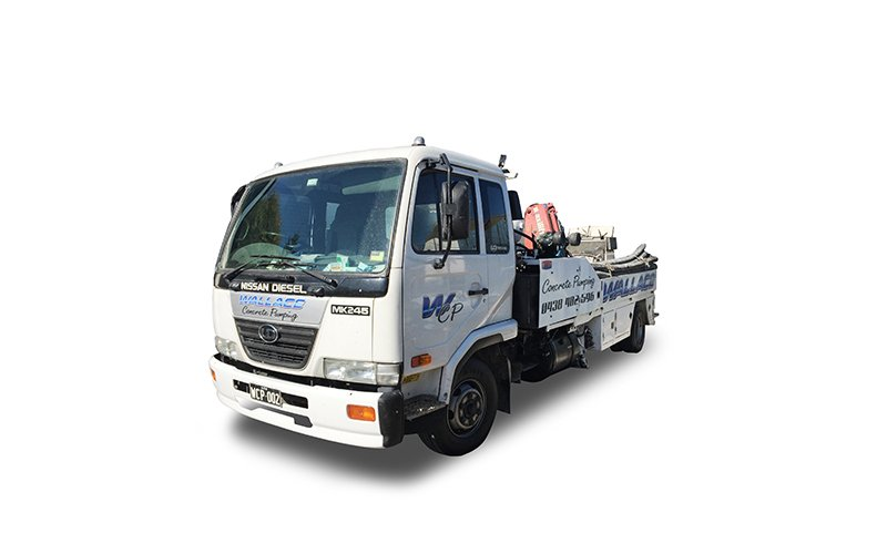 WCP002 - UD MK 245 Pump Truck - High Pressure Line Pump - Wallace Concrete Pumping Contractor Services Sydney