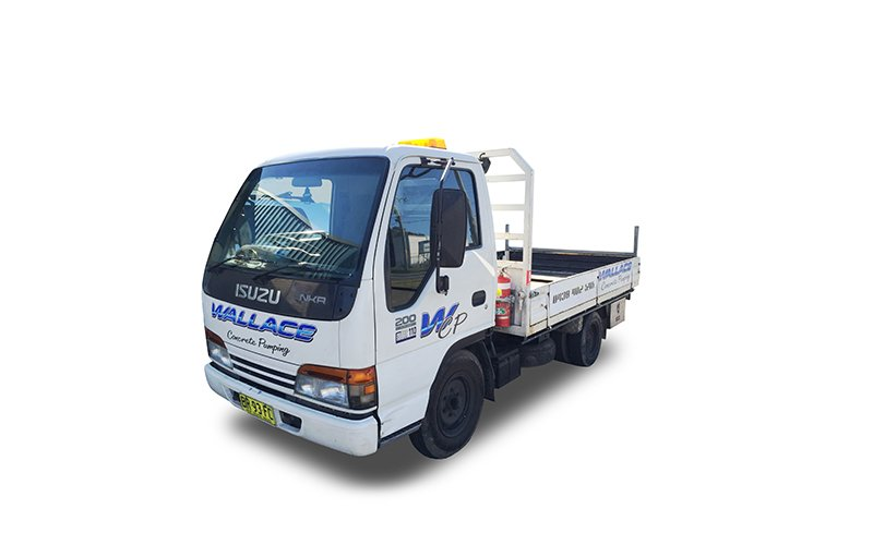 BR93FC - Isuzu NKR 200 Delivery Vehicle - Wallace Concrete Pumping Services Contractor Company - Sydney NSW