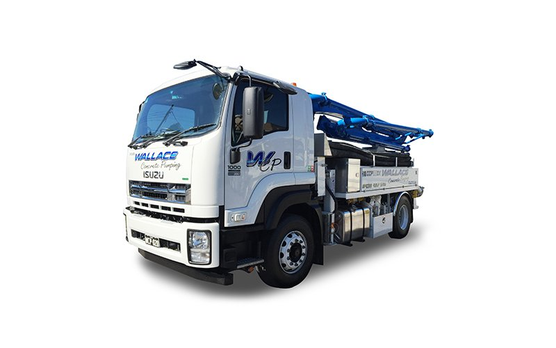 WCP020 - 20m Truck Mounted Boom Pump - Wallace Concrete Pumping Services Contractor Company - Sydney NSW