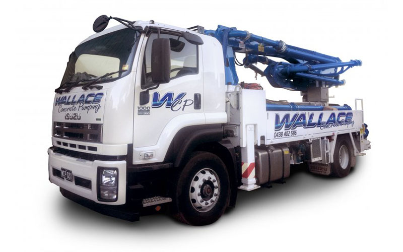 WCP021 - 21M High Pressure Truck Mounted Boom Pump - Wallace Concrete Pumping Contractor Services Sydney