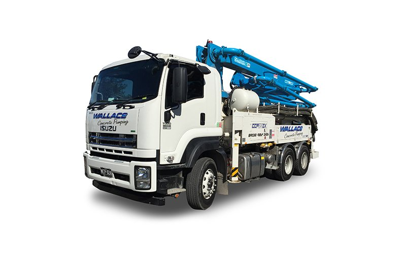 WCP024 - 24m Truck Mounted Boom Pump - Wallace Concrete Pumping Services Contractor Company - Sydney NSW