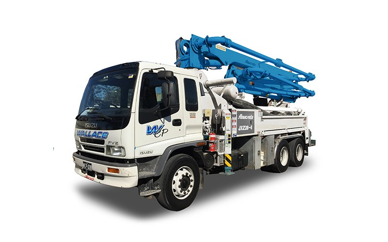 WCP028 - 28m Truck Mounted Boom Pump - Wallace Concrete Pumping Services Contractor Company - Sydney NSW