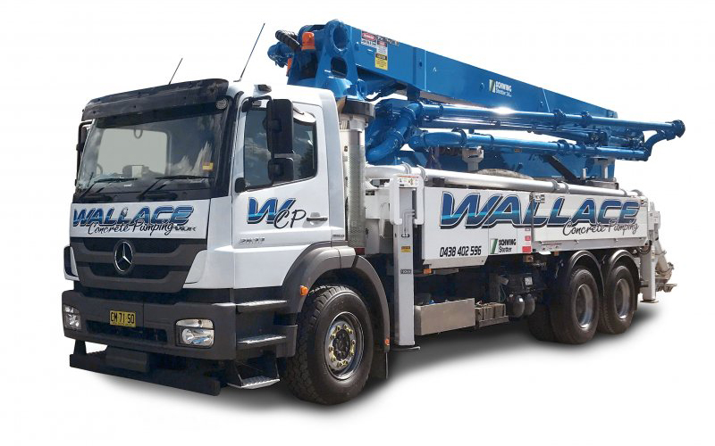 Wallace Concrete Pumping Services, Commercial, Civil, Residential