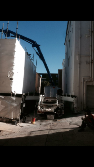 Wallace Concrete Pumping Contractor services project: Bondi Apartments -